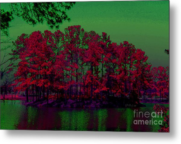 The Red Forest Metal Print
