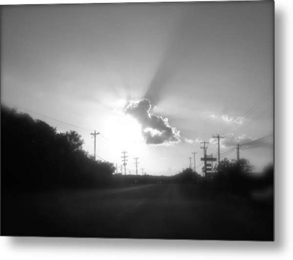 The Ride Home Metal Print by Amber Hennessey