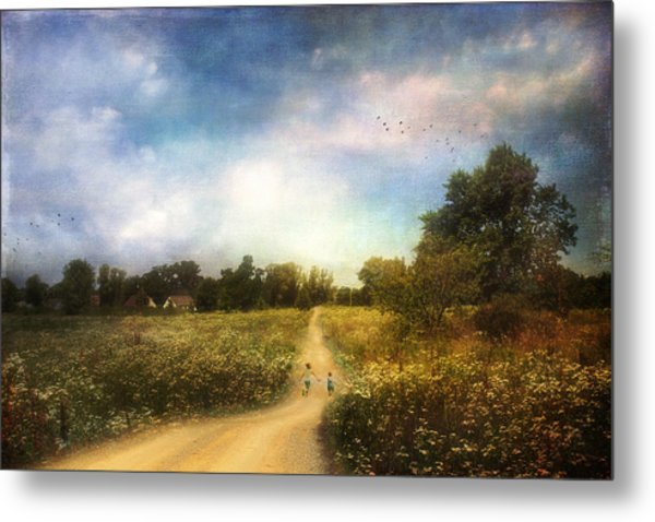 The Road That Leads To Home Metal Print