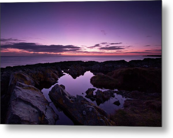 The Rock Pool At Dawn Metal Print