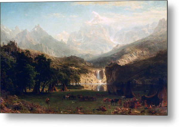 'the Rocky Mountains' By Albert Bierstadt Metal Print by Photos.com