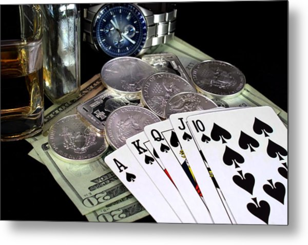 The Royal Flush Metal Print by Lynnette Johns