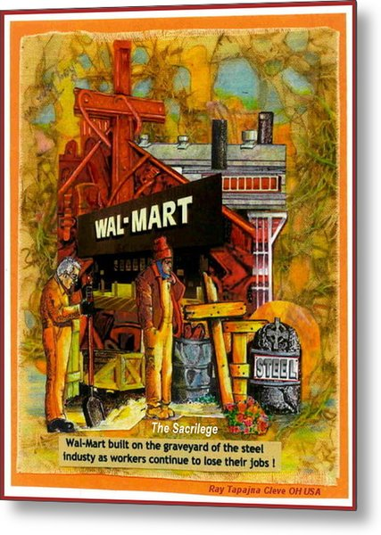 The Sacrilege Walmart Built In Grave Yard Of Steel Industry Metal Print