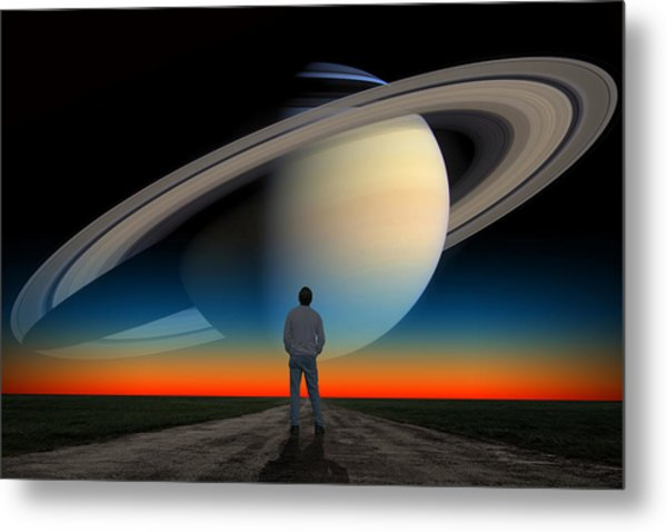 The Saturn Gaze Metal Print