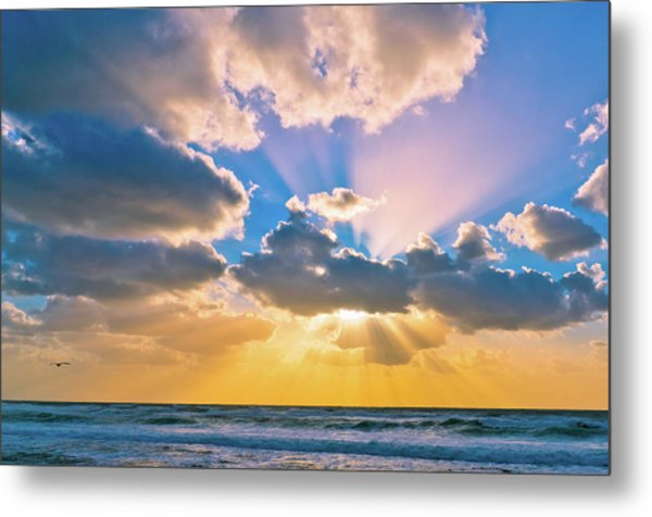 The Sea In The Sunset Metal Print