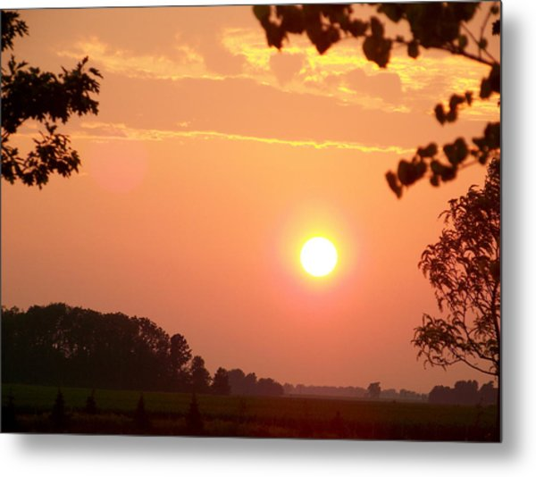 The Setting Sun Metal Print