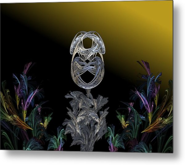 The Shell Gold Metal Print by Ricky Kendall