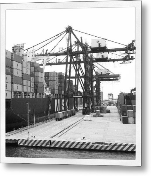The Shipping Yard Metal Print