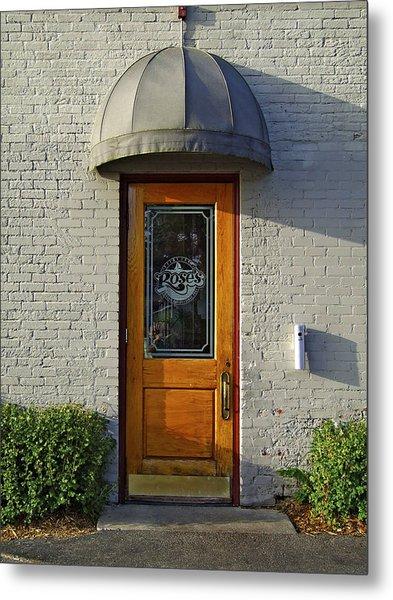 The Side Door Metal Print