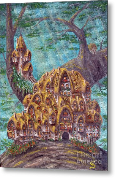The Small Straddle House From Arboregal Metal Print by Dumitru Sandru