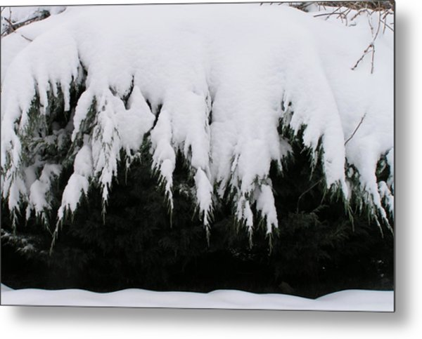 The Snow Cave Metal Print