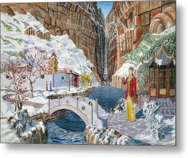 The Snow Princess Metal Print