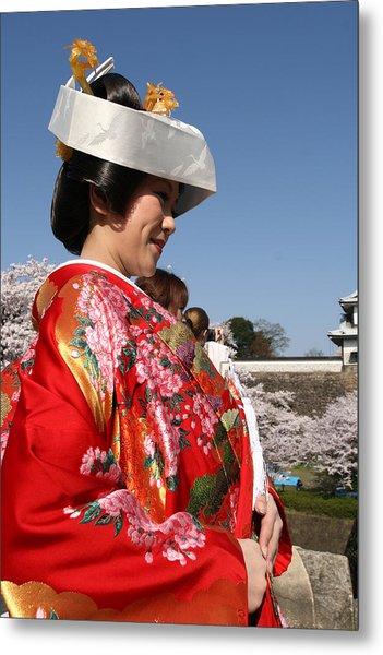 The Splendor Of A Kimono Metal Print