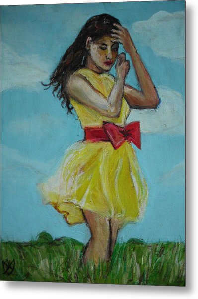 The Spring Bow Dress Metal Print by Adam Kissel