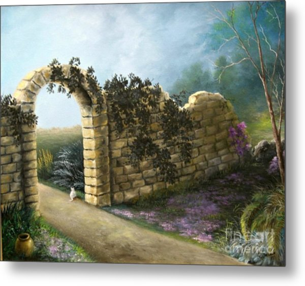 The Stone Wall Metal Print