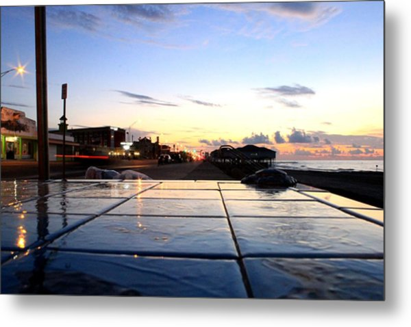 The Streets Of Galveston Metal Print by Mark Longtin