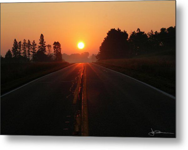 The Sun Road Metal Print