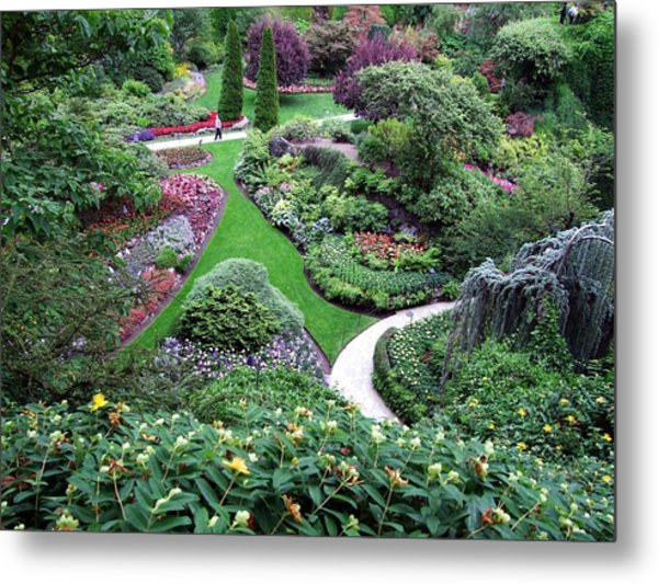 The Sunken Garden Metal Print