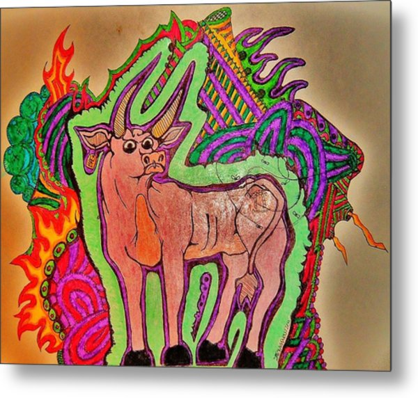 The Taurus Metal Print by Ragdoll Washburn