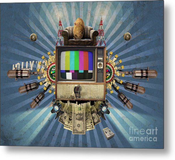 The Television Will Not Be Revolutionised Metal Print