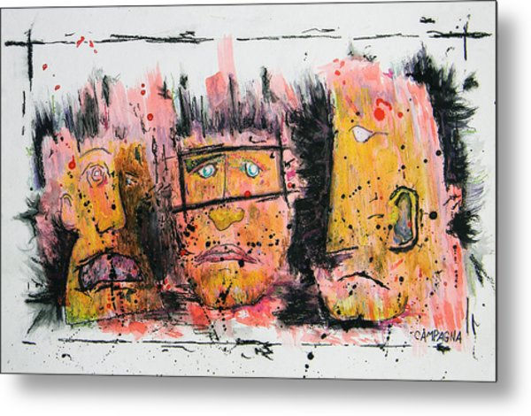 The Three Evils Metal Print