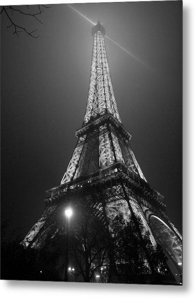 The Tower Ablaze Metal Print by Humberto Laviera