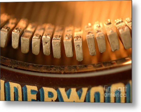 The Typewriter Metal Print