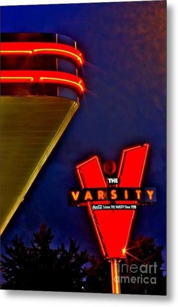 The Varsity Sign 2 Metal Print by Corky Willis Atlanta Photography