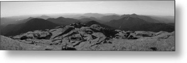 The View North From Mt. Marcy Black And White Three Metal Print