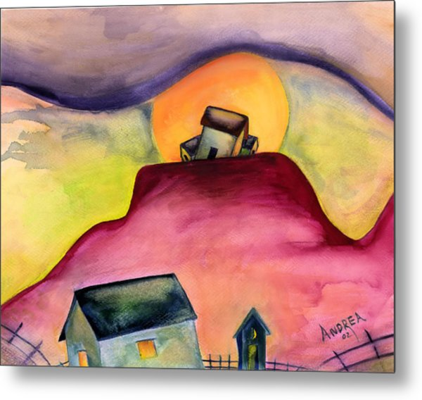 The Village Metal Print by Andrea Camp