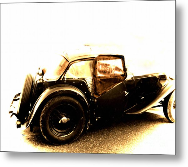 The Vintage Of British Time Metal Print by Steven Digman