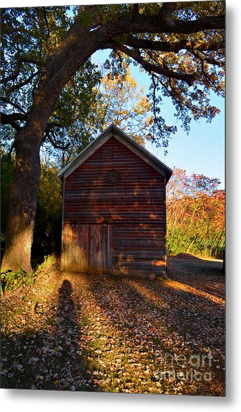 The Weathered Shed Metal Print