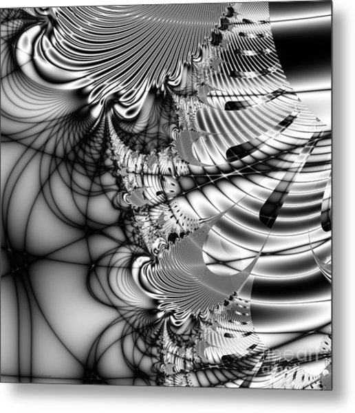 The Web We Weave . Square Metal Print