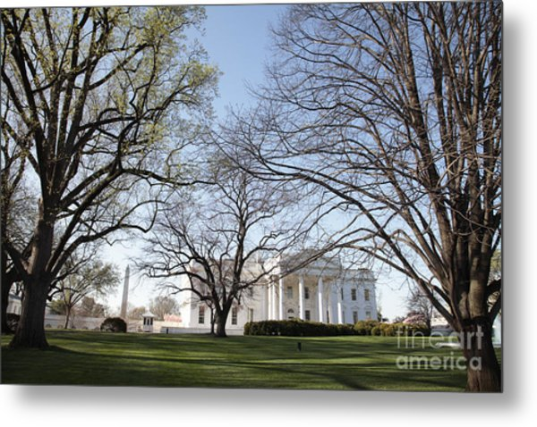 The White House And Lawns Metal Print