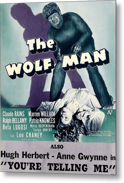 The Wolf Man, As The Wolf Man Lon Metal Print by Everett