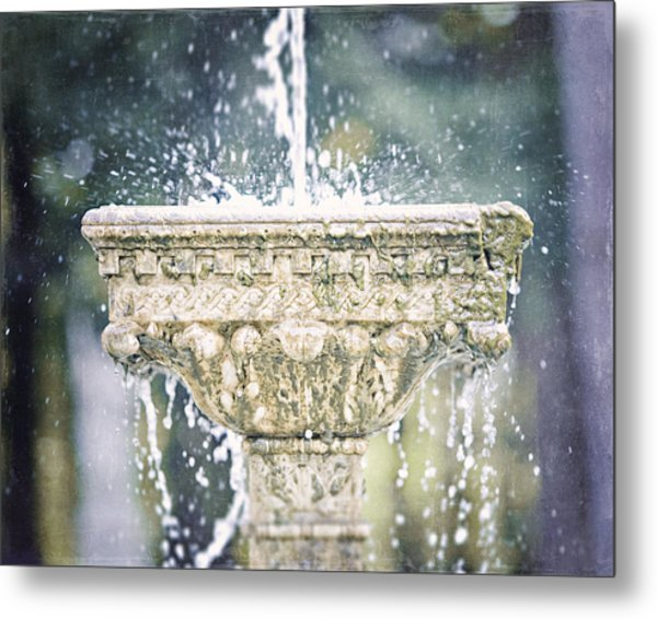The Yaddo Fountain Metal Print by Lisa Russo