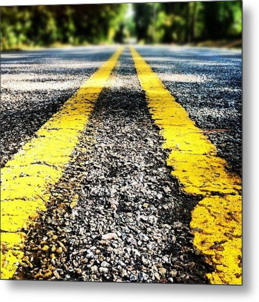 The Yellow Lines Metal Print
