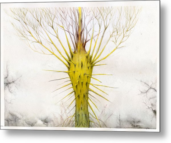 The Yellow Plant Metal Print by Bjorn Eek