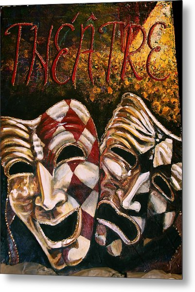 Theatre Masks Comedy And Tragedy Metal Print by Martha Bennett