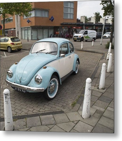 There She Is Again #vw #volkswagen Metal Print