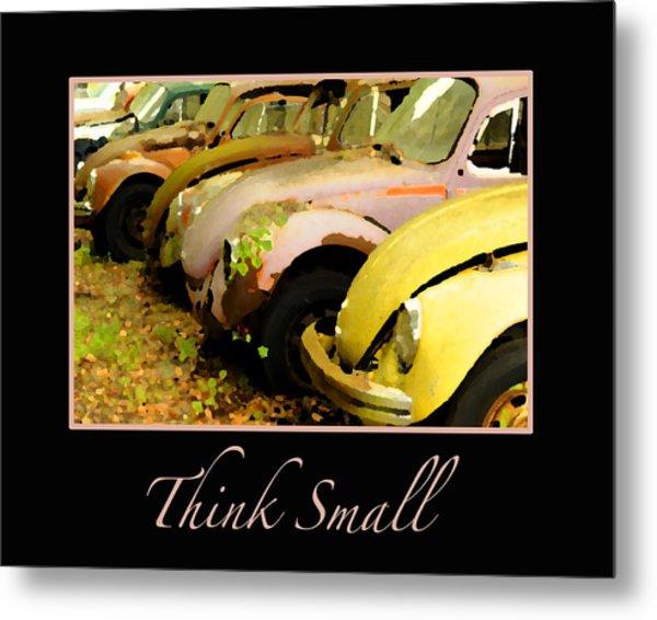 Think Small Metal Print by Nancy Greenland