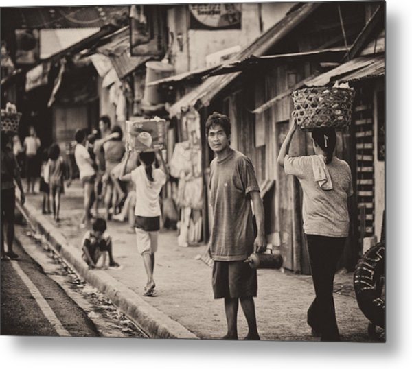 This Is The Philippines No.55 - The Carriers Metal Print by Paul W Sharpe Aka Wizard of Wonders
