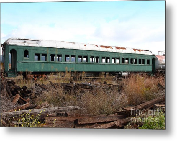 This Old Train Has Seen Better Days . 7d8994 Metal Print by Wingsdomain Art and Photography