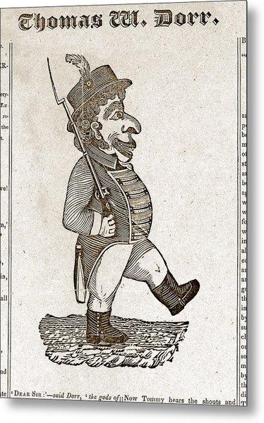 Thomas Wilson Dorr. Caricature Of Dorr Metal Print by Everett
