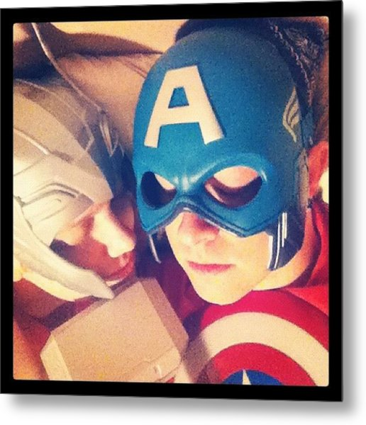Thor And Captain America. #gay #lovers Metal Print