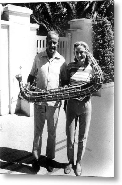 Thor Heyerdahl And Wife Yvonne Photograph By Everett