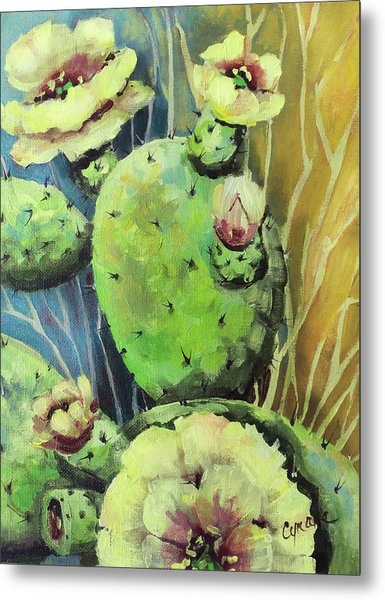 Those Bloomin' Cactus Metal Print