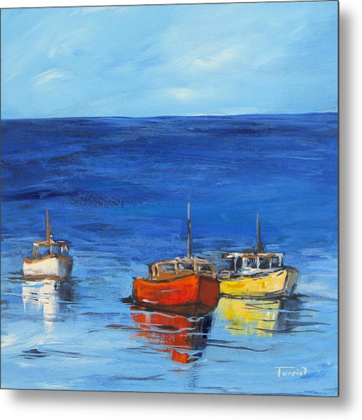 Three Boats Metal Print by Torrie Smiley