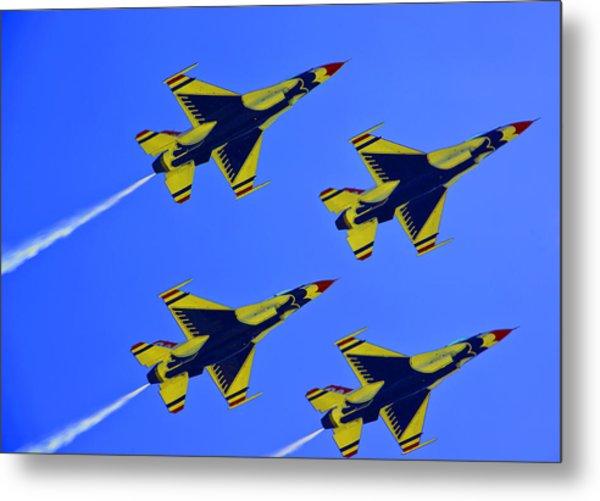 Thunderbirds Ascending Metal Print by Michael Wilcox