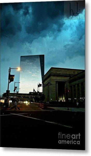 thunderstorm 30th Street Philadelphia Metal Print